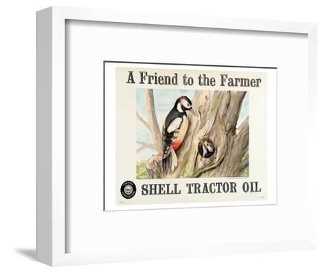 Shell Tractor Oil - Farmer--Framed Art Print