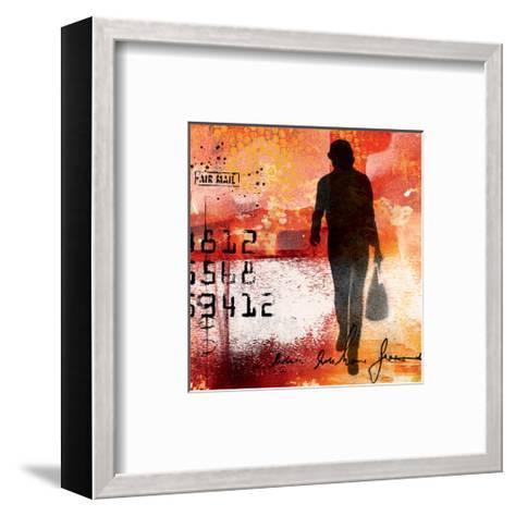 the Art Generation I-Lucy Cloud-Framed Art Print