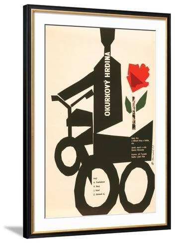 The Cucumber Hero-Okurkovy--Framed Art Print