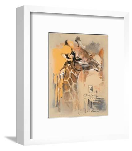 Wildlife Giraffe-Joadoor-Framed Art Print