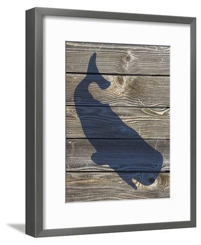 Coastal Whale-Melody Hogan-Framed Art Print