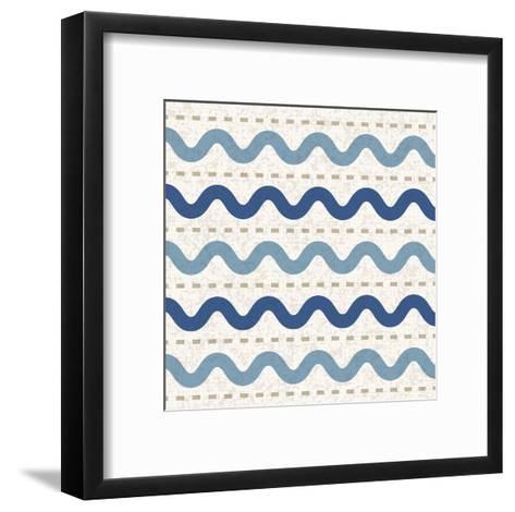 Seaside Waves-Melody Hogan-Framed Art Print