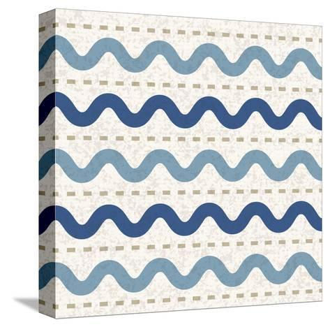 Seaside Waves-Melody Hogan-Stretched Canvas Print