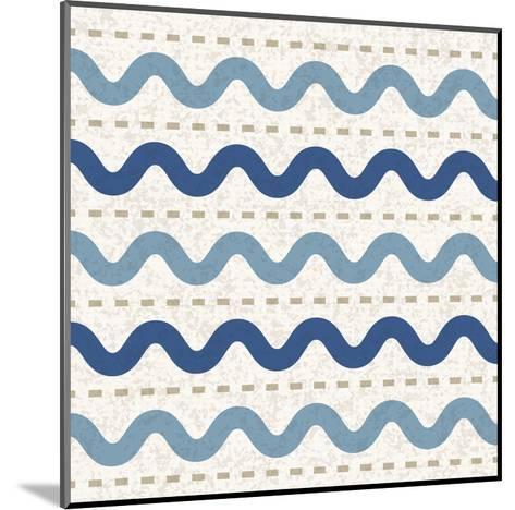 Seaside Waves-Melody Hogan-Mounted Art Print
