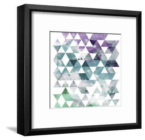 Marble Triangle-OnRei-Framed Art Print