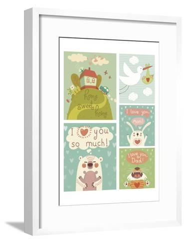 I Love You Collage--Framed Art Print