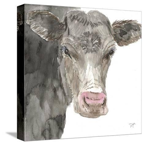Hogans Cow-Beverly Dyer-Stretched Canvas Print