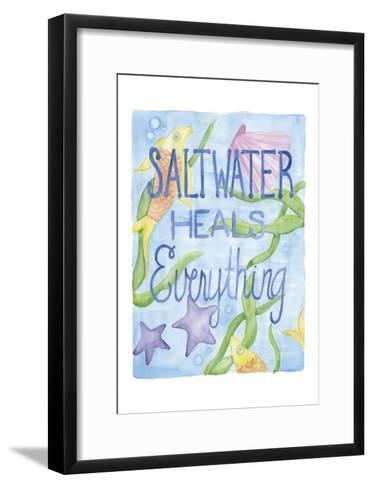 Saltwater Heals-Pam Varacek-Framed Art Print