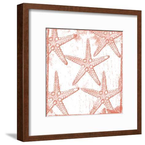 Salmon Coral Star-Sheldon Lewis-Framed Art Print