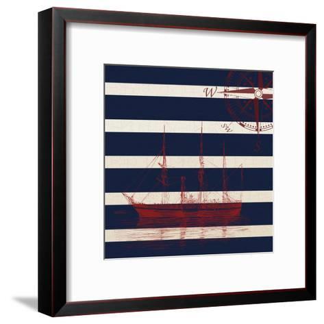 Lone Ship-Sheldon Lewis-Framed Art Print