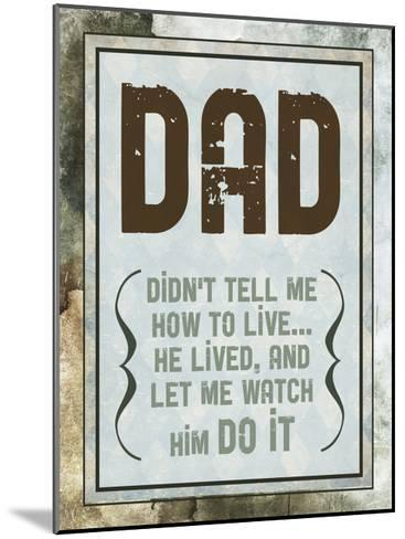 Fathers Day 2-Melody Hogan-Mounted Art Print