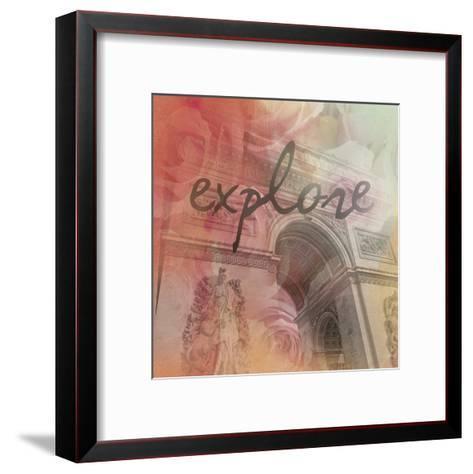 Triumph Explore-Victoria Brown-Framed Art Print