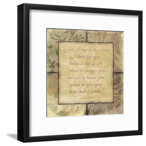 Plans-Jace Grey-Framed Art Print