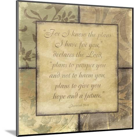 Plans-Jace Grey-Mounted Art Print