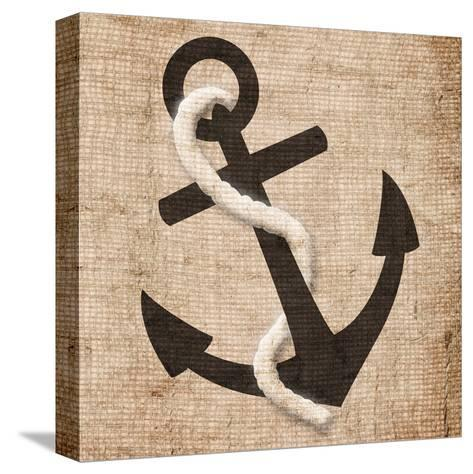 Rope Anchor-Jace Grey-Stretched Canvas Print