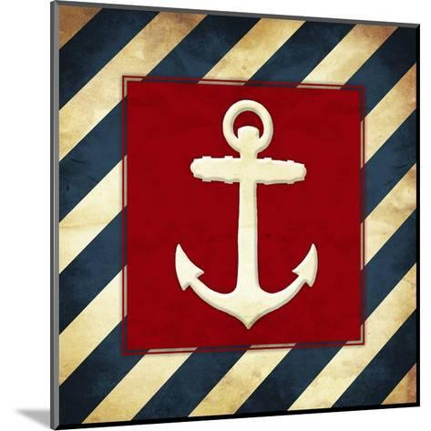 Anchored Stripes-Jace Grey-Mounted Art Print