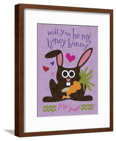 Valentine Rabbit 2-Melody Hogan-Framed Art Print