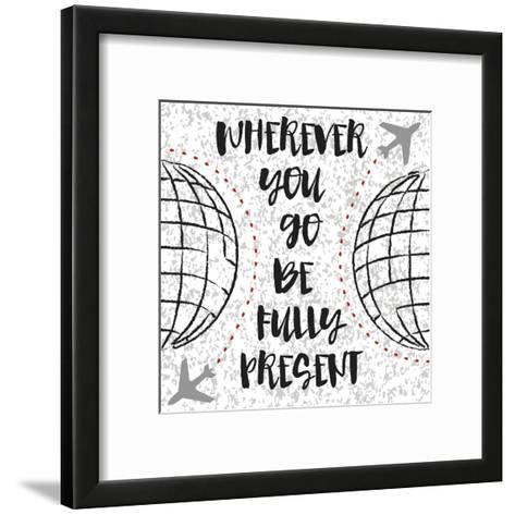Travel World-Melody Hogan-Framed Art Print