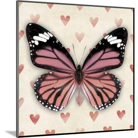 Pink Butterfly--Mounted Art Print
