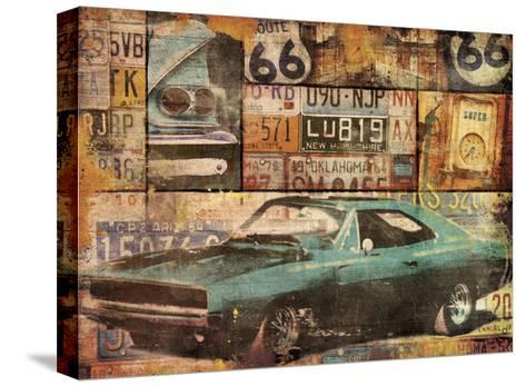 Cruising-Jace Grey-Stretched Canvas Print