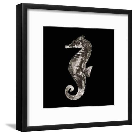 Coastal Seahorse 2-Victoria Brown-Framed Art Print
