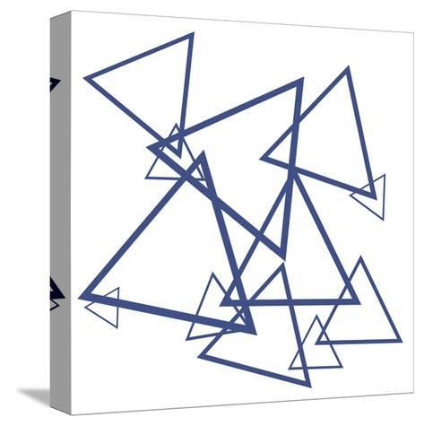 Triangles-Victoria Brown-Stretched Canvas Print