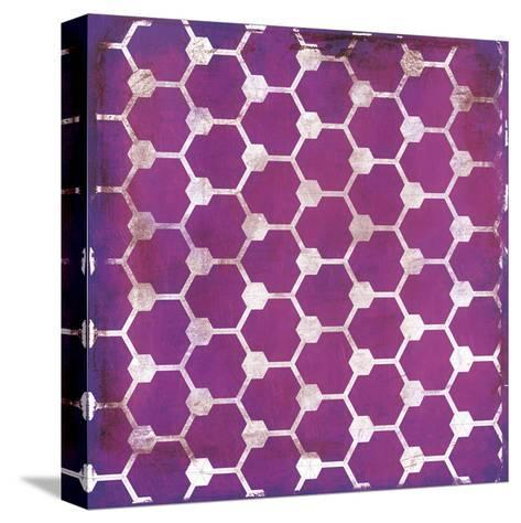Purp Pink Pattern-Jace Grey-Stretched Canvas Print
