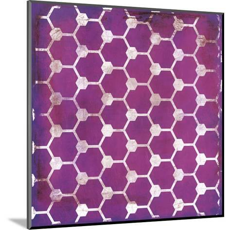Purp Pink Pattern-Jace Grey-Mounted Art Print