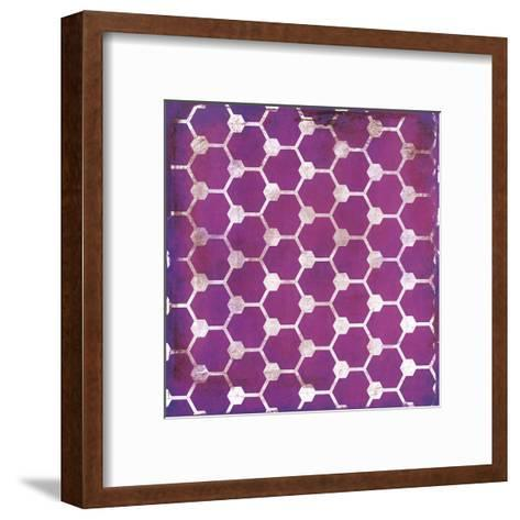 Purp Pink Pattern-Jace Grey-Framed Art Print