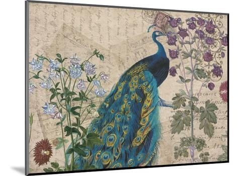 Peacock Botanical 3-Elizabeth Jordan-Mounted Art Print