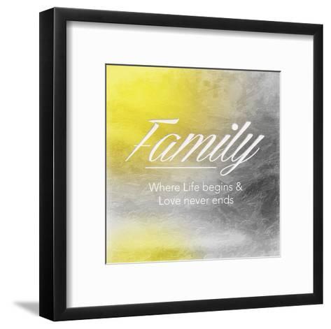 Family Sun-Jace Grey-Framed Art Print
