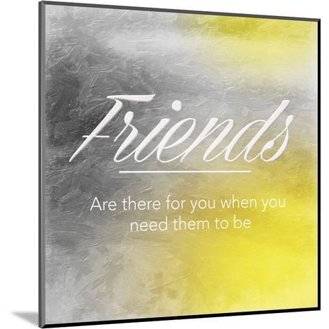 Friends Sun-Jace Grey-Mounted Art Print