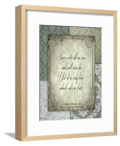 Love Costs-Melody Hogan-Framed Art Print