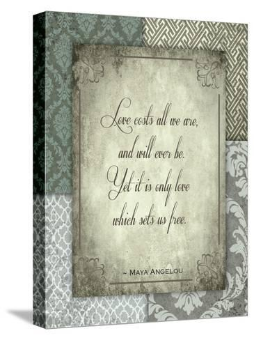 Love Costs-Melody Hogan-Stretched Canvas Print