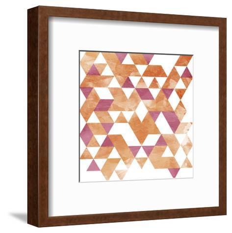 Blush Coral Triangles-OnRei-Framed Art Print