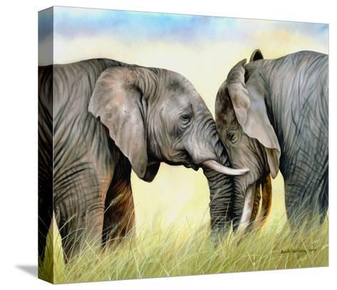 African Elephants-Sarah Stribbling-Stretched Canvas Print