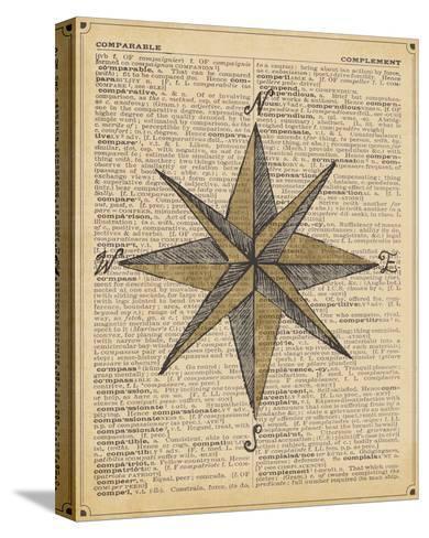 Nautical Series - Nautical Star-Sparx Studio-Stretched Canvas Print