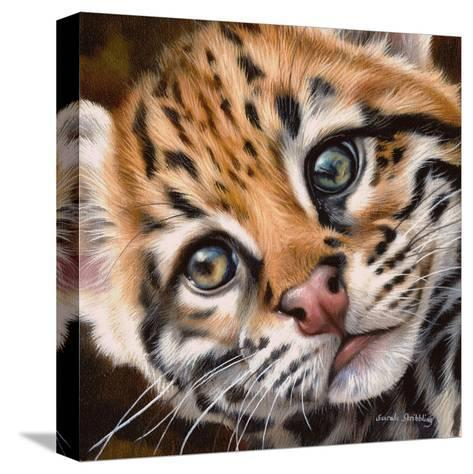 Ocelot Kitten-Sarah Stribbling-Stretched Canvas Print