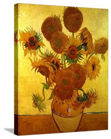 Sunflowers on Gold, 1888-Vincent van Gogh-Stretched Canvas Print