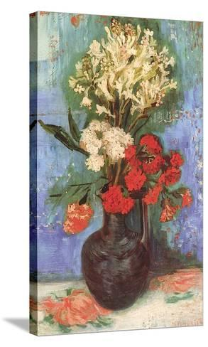 Vase with Carnations and Other Flowers, 1886-Vincent van Gogh-Stretched Canvas Print