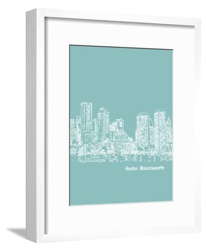 Skyline Boston 5-Brooke Witt-Framed Art Print