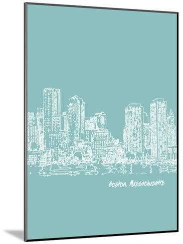 Skyline Boston 5-Brooke Witt-Mounted Art Print