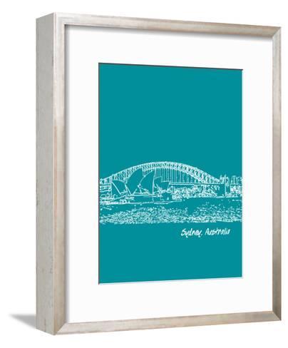 Skyline Sydney 4-Brooke Witt-Framed Art Print