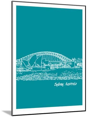 Skyline Sydney 4-Brooke Witt-Mounted Art Print