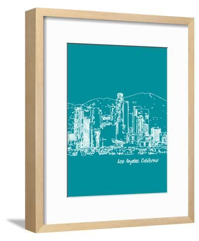 Skyline Los Angeles 4-Brooke Witt-Framed Art Print