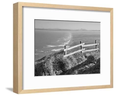 Pacific Ocean Seascape #51 B+W-Murray Bolesta-Framed Art Print