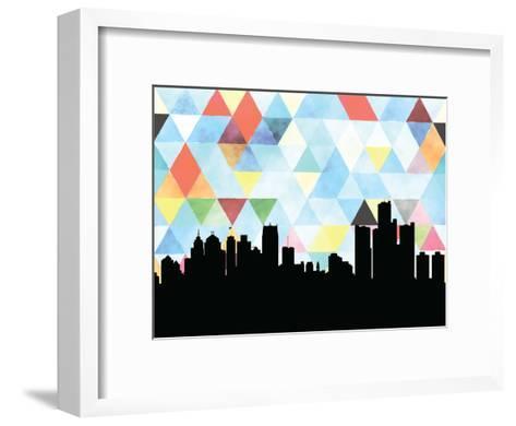 Detroit Triangle--Framed Art Print