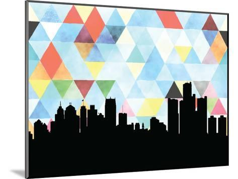 Detroit Triangle--Mounted Art Print