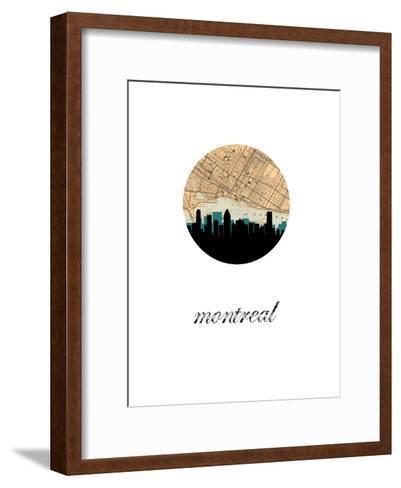 Montreal Map Skyline--Framed Art Print