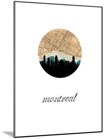 Montreal Map Skyline--Mounted Art Print